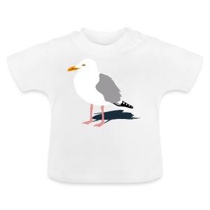 tier t-shirt möwe möwen sea gull seagull hafen beach harbour - Baby T-Shirt