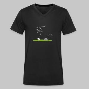 Schnick Schnack Schnuck - Männer Bio-T-Shirt mit V-Ausschnitt von Stanley & Stella