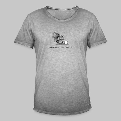 Wollmaussau (dunkle Schrift) - Männer Vintage T-Shirt