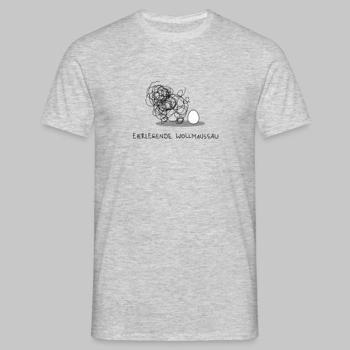 Wollmaussau (dunkle Schrift) - Männer T-Shirt