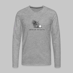 Wollmaussau (dunkle Schrift) - Männer Premium Langarmshirt