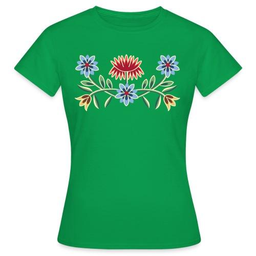 Nordlandsbunad broderi-illustrasjon - T-skjorte for kvinner