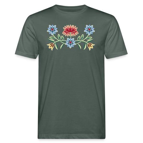 Nordlandsbunad broderi-illustrasjon - Økologisk T-skjorte for menn