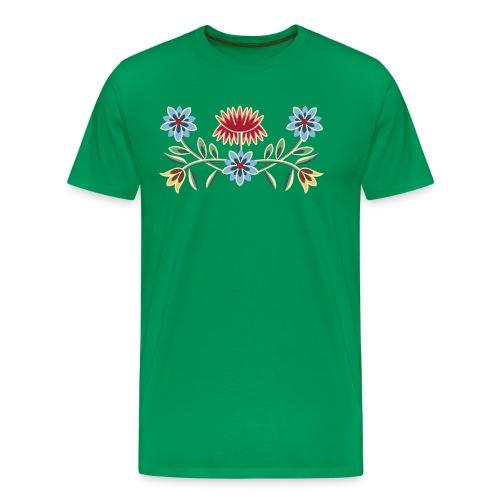 Nordlandsbunad broderi-illustrasjon - Premium T-skjorte for menn