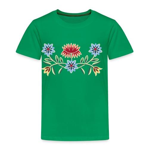 Nordlandsbunad broderi-illustrasjon - Premium T-skjorte for barn