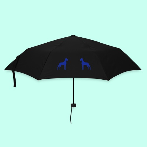 Doggen weiß auf rot - Regenschirm (klein)