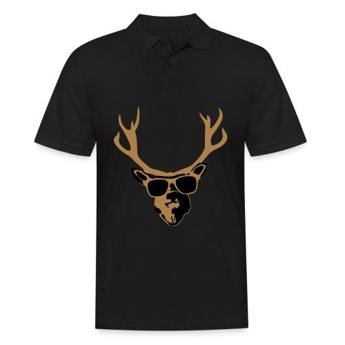 Partyhirsch braun/beige Hausmarke - Männer Poloshirt