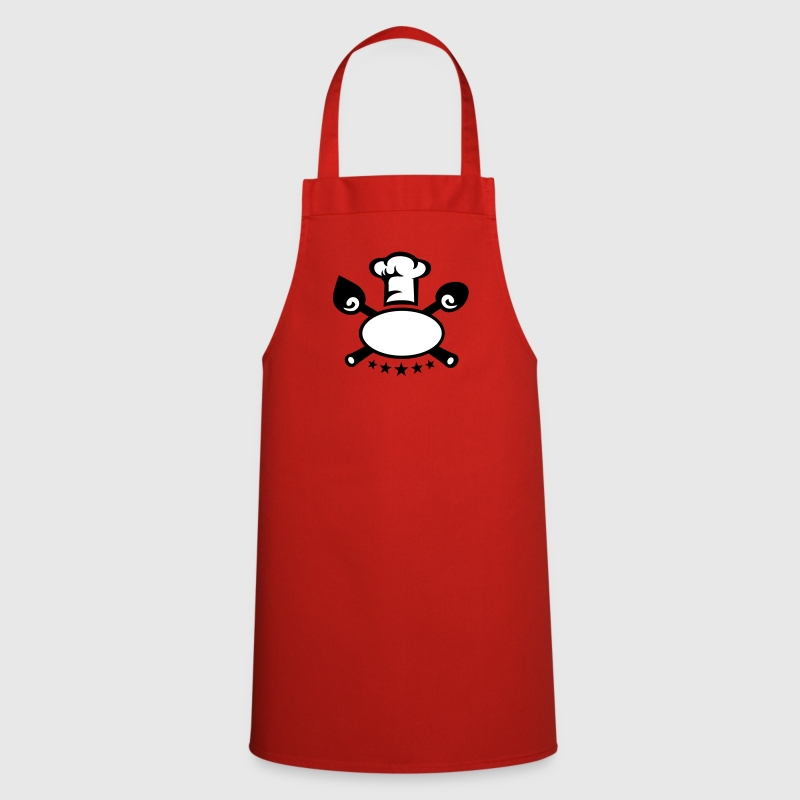 Chef's hat 5 star, cooking, kitchen, cutlery, five  Aprons - Cooking Apron
