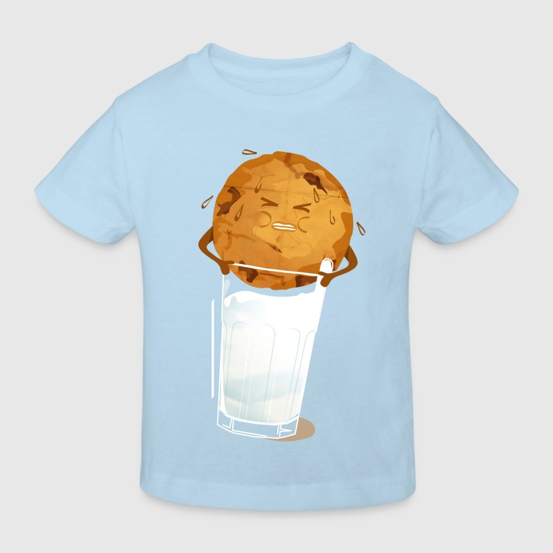 Lyseblå milk'n'cookie T-shirts - Organic børne shirt