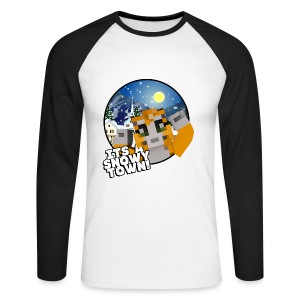 It's A Snowy Town - Men's T-shirt  - Men's Long Sleeve Baseball T-Shirt