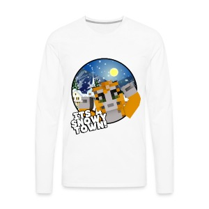 It's A Snowy Town - Men's T-shirt  - Men's Premium Longsleeve Shirt
