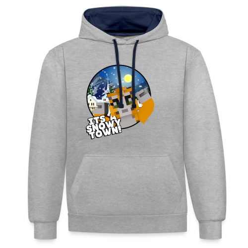 It's A Snowy Town - Teenagers's T-shirt  - Contrast Colour Hoodie