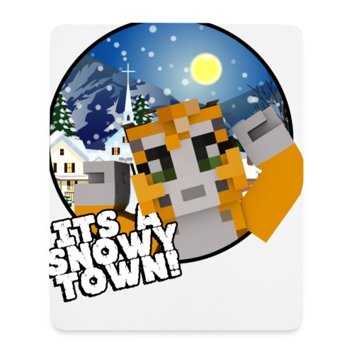 It's A Snowy Town - Teenagers's T-shirt  - Mouse Pad (vertical)