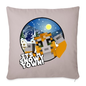 It's A Snowy Town - Teenagers's T-shirt  - Sofa pillow cover 44 x 44 cm