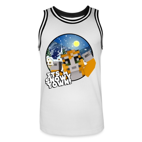 It's A Snowy Town - Teenagers's T-shirt  - Men's Basketball Jersey
