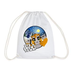 It's A Snowy Town - Teenagers's T-shirt  - Drawstring Bag