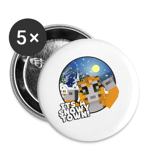 It's A Snowy Town - Teenagers's T-shirt  - Buttons large 56 mm