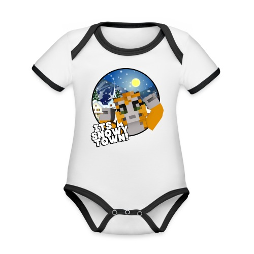 It's A Snowy Town - Teenagers's T-shirt  - Organic Baby Contrasting Bodysuit