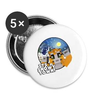 It's A Snowy Town - Teenagers's T-shirt  - Buttons medium 32 mm