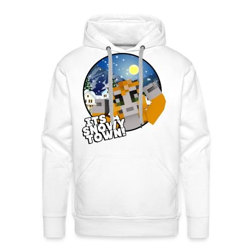 It's A Snowy Town - Teenagers's T-shirt  - Men's Premium Hoodie