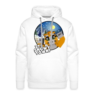It's A Snowy Town - Teenagers's T-shirt  - Men's Premium Hoodie