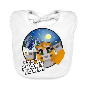 It's A Snowy Town - Teenagers's T-shirt  - Baby Organic Bib