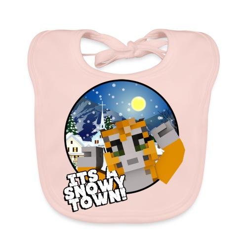 It's A Snowy Town - Teenagers's T-shirt  - Baby Organic Bib