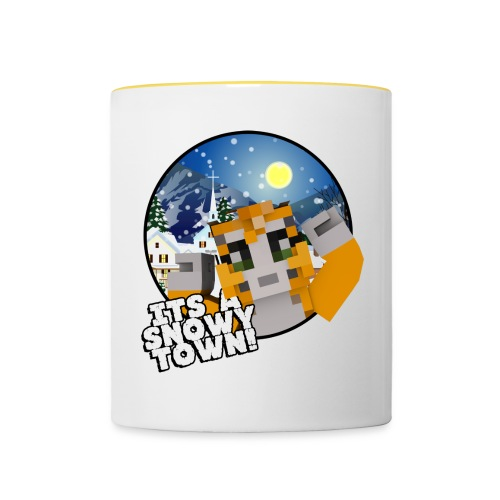 It's A Snowy Town - Teenagers's T-shirt  - Contrasting Mug