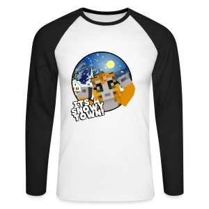 It's A Snowy Town - Teenagers's T-shirt  - Men's Long Sleeve Baseball T-Shirt