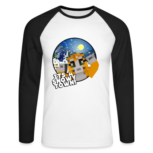 It's A Snowy Town - Teenagers's T-shirt  - Men's Long Sleeve Baseball T-Shirt