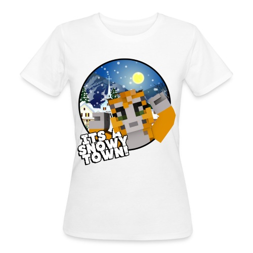It's A Snowy Town - Teenagers's T-shirt  - Women's Organic T-shirt