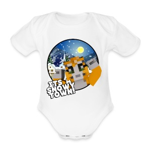 It's A Snowy Town - Teenagers's T-shirt  - Organic Short-sleeved Baby Bodysuit