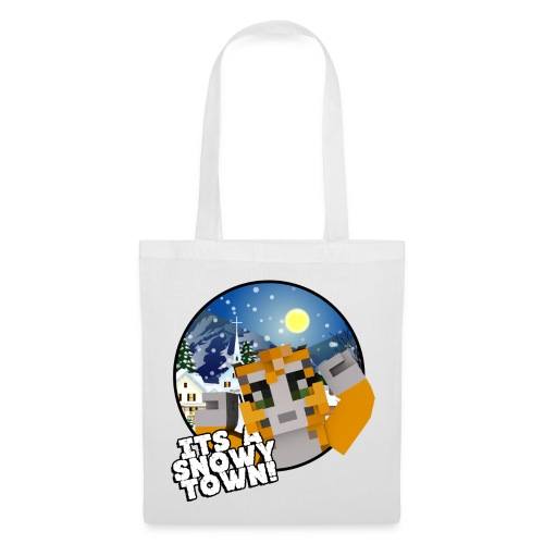 It's A Snowy Town - Teenagers's T-shirt  - Tote Bag