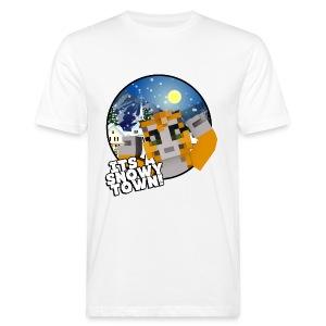 It's A Snowy Town - Teenagers's T-shirt  - Men's Organic T-shirt