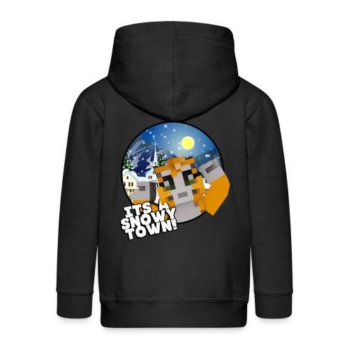 It's A Snowy Town - Teenagers's T-shirt  - Kids' Premium Zip Hoodie