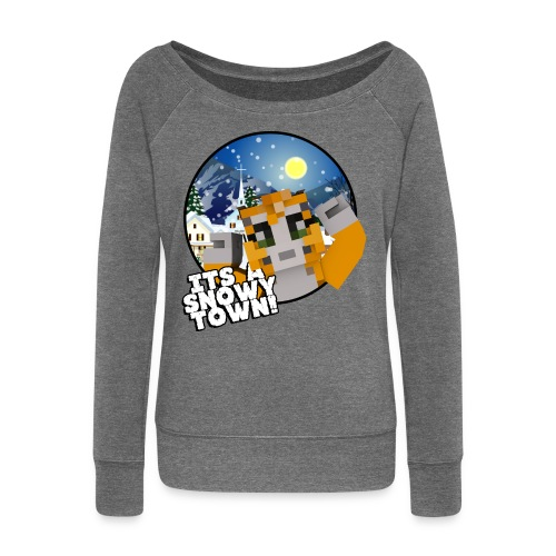 It's A Snowy Town - Teenagers's T-shirt  - Women's Boat Neck Long Sleeve Top