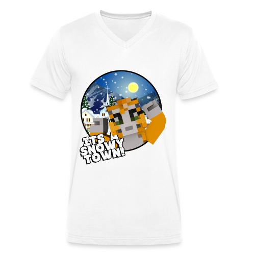 It's A Snowy Town - Teenagers's T-shirt  - Men's Organic V-Neck T-Shirt by Stanley & Stella