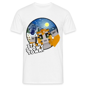 It's A Snowy Town - Teenagers's T-shirt  - Men's T-Shirt