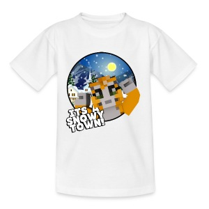 It's A Snowy Town - Teenagers's T-shirt  - Kids' T-Shirt