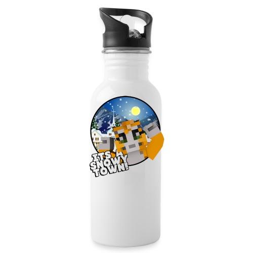 It's A Snowy Town - Teenagers's T-shirt  - Water Bottle