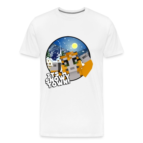 It's A Snowy Town - Teenagers's T-shirt  - Men's Premium T-Shirt