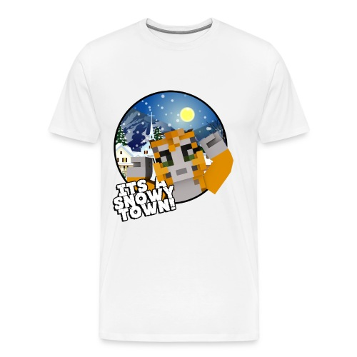 It's A Snowy Town - Teenagers's T-shirt  - Men's Premium T-Shirt