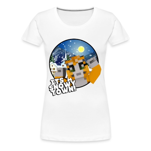 It's A Snowy Town - Teenagers's T-shirt  - Women's Premium T-Shirt