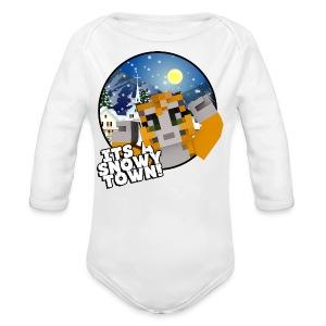 It's A Snowy Town - Teenagers's T-shirt  - Organic Longsleeve Baby Bodysuit
