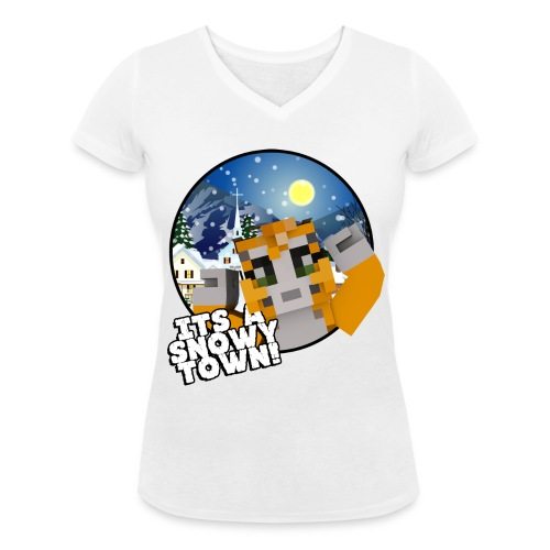 It's A Snowy Town - Teenagers's T-shirt  - Women's Organic V-Neck T-Shirt by Stanley & Stella