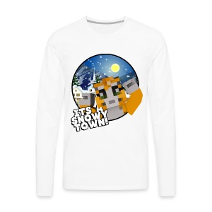 It's A Snowy Town - Teenagers's T-shirt  - Men's Premium Longsleeve Shirt