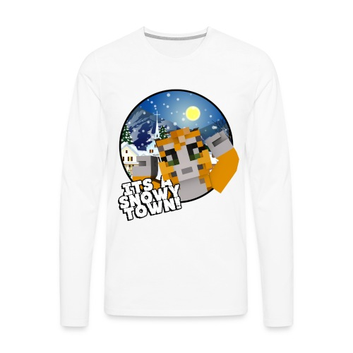 It's A Snowy Town - Teenagers's T-shirt  - Men's Premium Longsleeve Shirt
