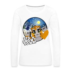 It's A Snowy Town - Teenagers's T-shirt  - Women's Premium Longsleeve Shirt