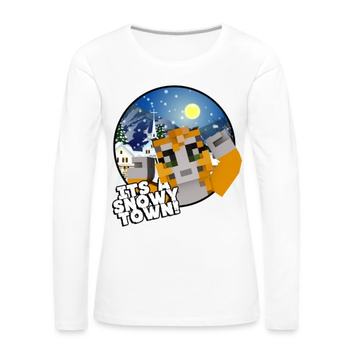 It's A Snowy Town - Teenagers's T-shirt  - Women's Premium Longsleeve Shirt