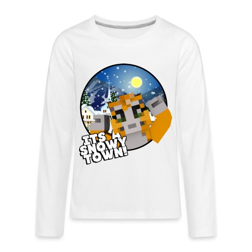It's A Snowy Town - Teenagers's T-shirt  - Teenagers' Premium Longsleeve Shirt